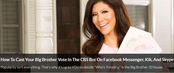 CBS Big Brother 20 Vote Online