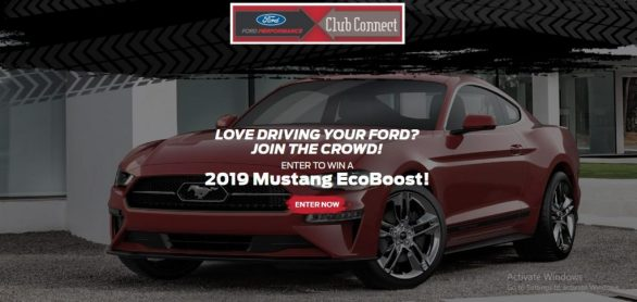 Ford Performance Club Connect Sweepstakes