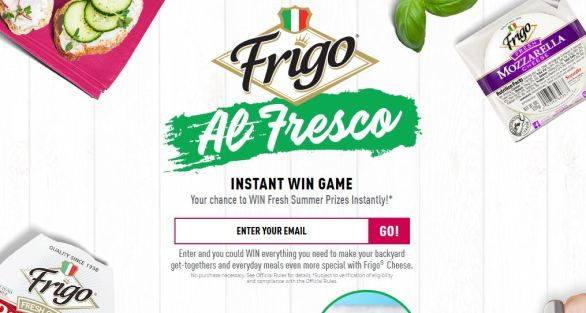 Frigo AL Fresco Instant Win Game Sweepstakes
