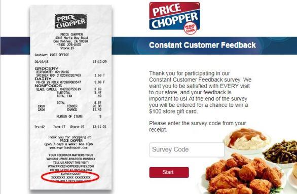 Price Chopper Customer Satisfaction Survey