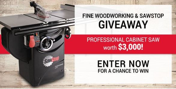 SawStop Professional Cabinet Saw Sweepstakes