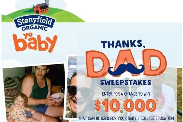 Stonyfield Thanks Dad Sweepstakes