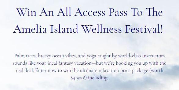 Amelia Island Wellness Festival Giveaway