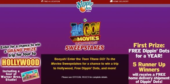 Dippin Dots Teen Titans Go To the Movies Sweepstakes