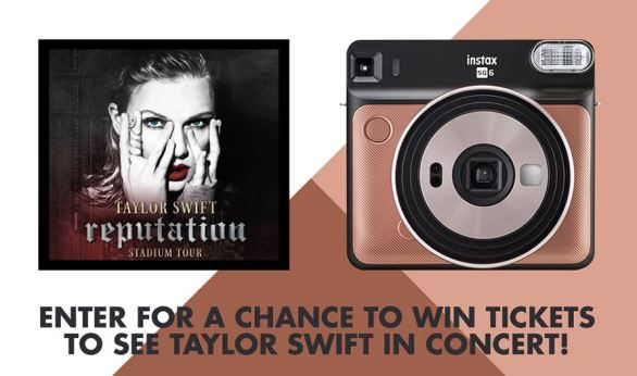 FUJIFILM INSTAX Taylor Swift Concert Tickets Sweepstakes