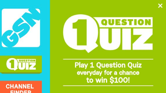 GSN 1QQ Sweepstakes