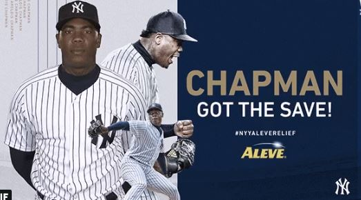 MLB NYY Aleve Relief Sweepstakes