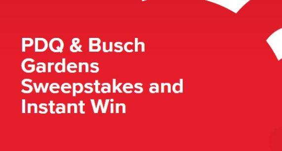 PDQ & Busch Gardens Sweepstakes