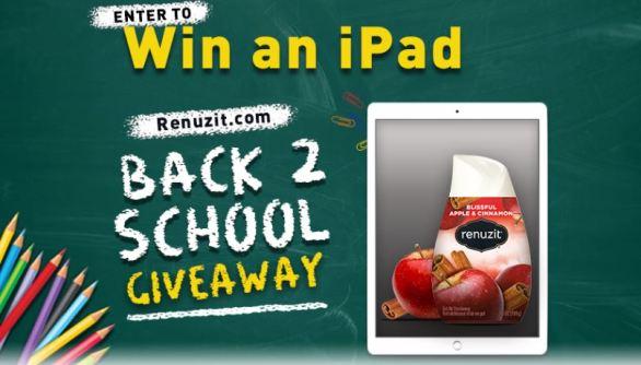 Renuzit Back to School iPad Giveaway