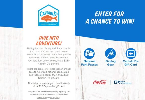 Coca-Cola Go Fishing with D's Sweepstakes