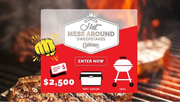 Colman's Mustard Hot Mess Around Sweepstakes