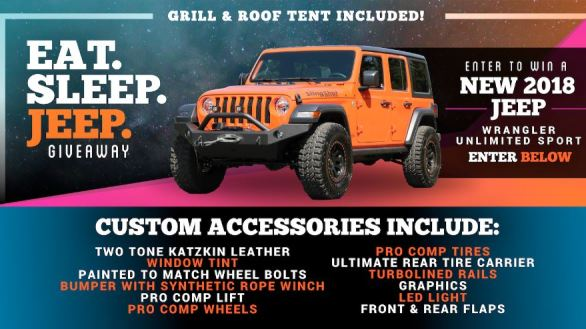 Dave Smith Motors EAT SLEEP JEEP Giveaway