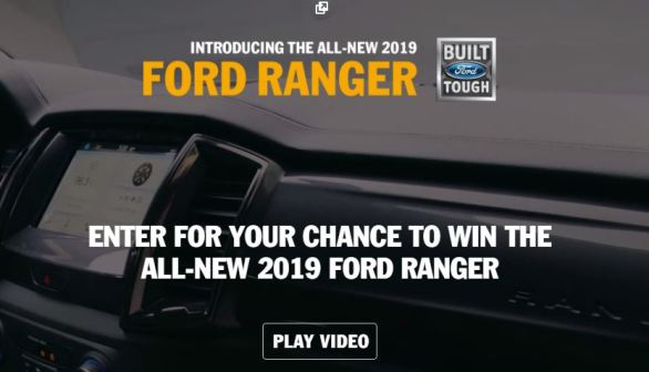 Ford Ranger Drive Tour Sweepstakes