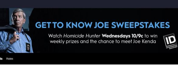 Investigation Discovery Get to Know Joe Kenda Sweepstakes