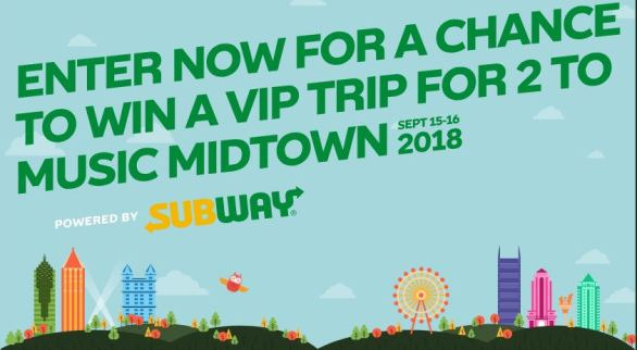 Live Nation Subway Make It What You Want Sweepstakes