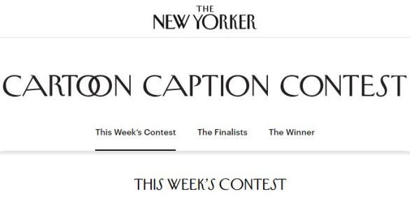 New Yorker Cartoon Caption Contest