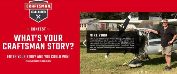 CRAFTSMAN What's Your CRAFTSMAN Story Contest