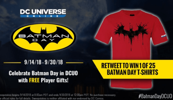 DCUO Batman Day Sweepstakes