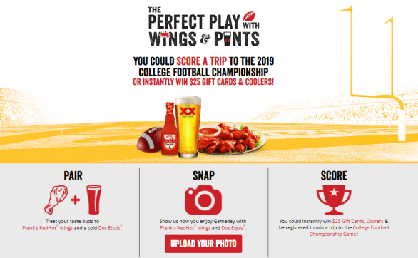Frank's Redhot College Football Sweepstakes