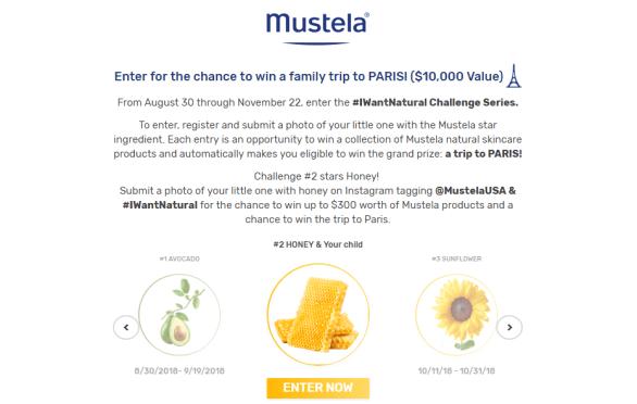 Lushli Mustela I Want Natural Challenge Series Sweepstakes