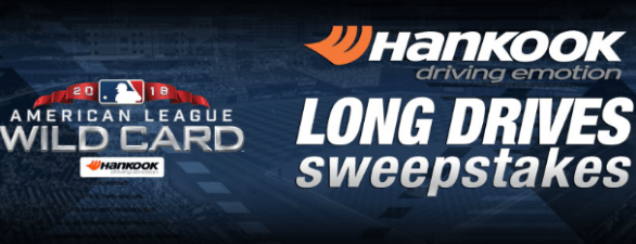 Mlb Hankook Tire Long Drives Sweepstakes