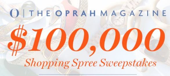 Oprah $100000 Shopping Spree Sweepstakes
