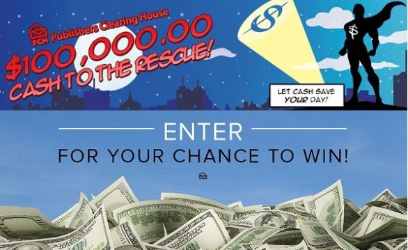 PCH.com $100,000 Cash to the Rescue Giveaway