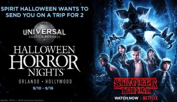 Spirit Halloween Superstores Halloween Horror Nights Sweepstakes