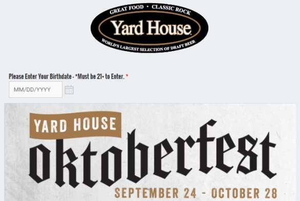 Yard House Oktoberfest Sweepstakes