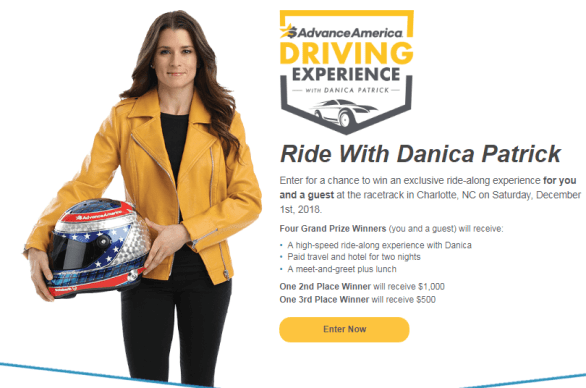 Advance America Driving Experience with Danica Patrick Sweepstakes