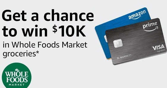 Amazon $10K of Groceries at Whole Foods Market Sweepstakes