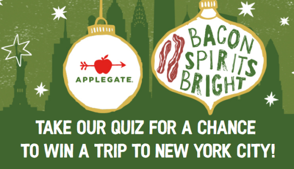 Applegate Bacon Spirits Bright Sweepstakes