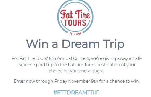 Fat Tire Win A Dream Trip Contest