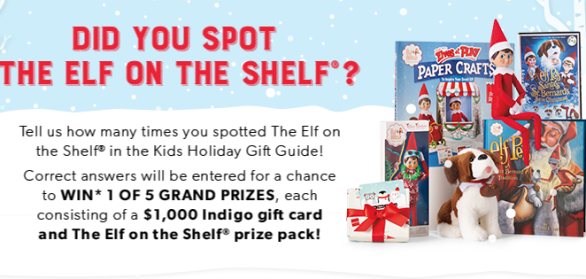 Indigo ELF On The Shelf Gift Guide Scout Elf Contest