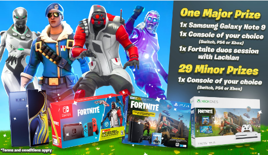 Lachlan's Fortnite Console Bundle Giveaway