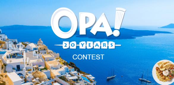 OPA! Scratch & Win Contest