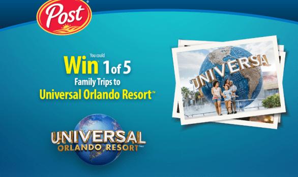 Post Consumer Brands Universal Orlando contest