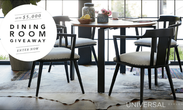 Universal Furniture $5,000 Dining Room Giveaway