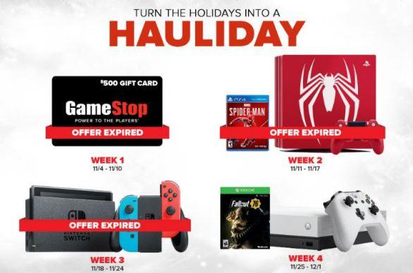GameStop PowerUp Rewards Hauliday Sweepstakes