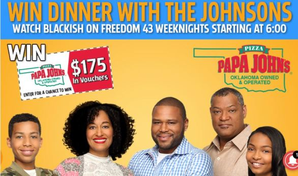 KFOR Dinner with the Johnsons Sweepstakes