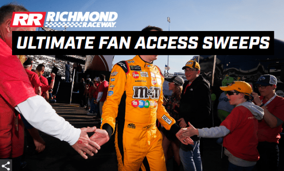 Richmond Raceway Ultimate Fan Access Weekend Sweepstakes