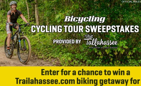 Bicycling's Tallahassee Cycling Tour Sweepstakes