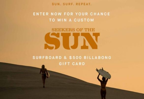 Billabong Seekers of the Sun Surfboard Sweepstakes