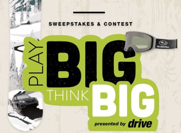 Subaru Play Big Sweepstakes