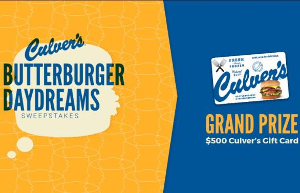 Culvers-ButterBurger-Daydreams-Sweepstakes