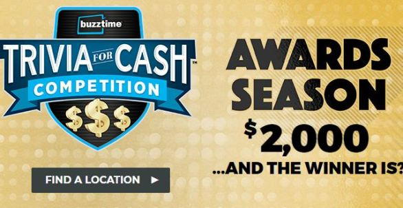 Buzztime-Awards-Season-Trivia-For-Cash-Contest