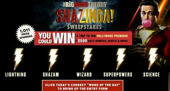 Bigbangtheoryweeknights-Shazam-Sweepstakes