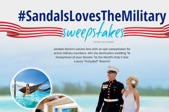 Sandals-Loves-The-Military-Sweepstakes