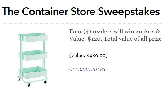 Womansday-Container-Store-Sweepstakes