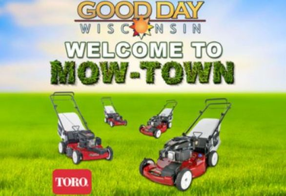 WLUK Fox 11 Good Day Wisconsin Welcome to Mow-Town Contest